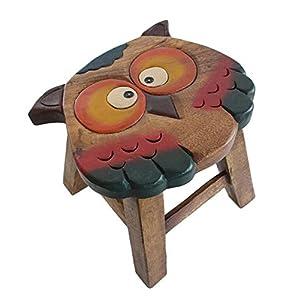 Madewin Manual Sculpture Hand-painted Wooden Bench Handmade Animal Bench (Sheep3)