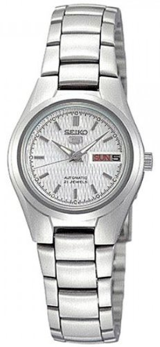 Seiko Women's 5' Japanese Automatic Stainless Steel Casual Watch, Color:Silver-Toned (Model: ()