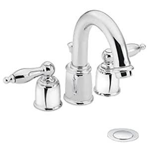 Moen castleby chrome minispread lavatory faucet touch on for 4 minispread faucet