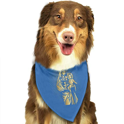 Pet Scarf Dog Bandana Bibs Triangle Head Scarfs Blessed Virgin Mary Accessories for Cats Baby Puppy