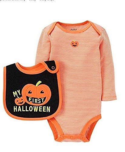 Child of Mine by Carter's Baby Boy's First Halloween Bodysuit And Bib Set (Newborn)