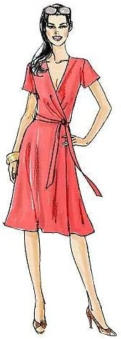 VOGUE PATTERNS V8379 Size BB 8-10-12-14 Misses Dress