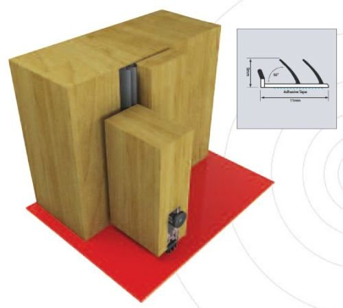 Acoustic Seals - Single Door Set - Twin Flipper - Brown by (Flipper Door Set)