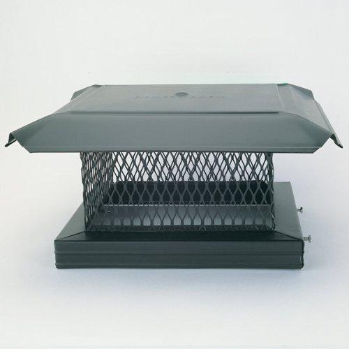 Chimney 14811 HomeSaver Pro Black Chimney Cap - .75 Inch Mesh - 17 Inches x 17 Inches