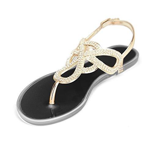 Chemistry® Infinity Sandalias Romanas Con Tanga De Gladiador Romano Para Mujer Zapatos Ajustables Con Correa En El Tobillo Negro