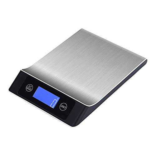 Coersd Digital Scales Stainless Steel Electronic Kitchen Cooking Food Weighing (E) (Best Electronic Scale Inhibitor)