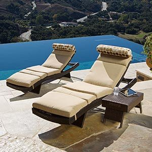 Nice Portofino Signature 3 Piece Lounge Set With Cushions Includes: 2 Chaise  Loungers, Side