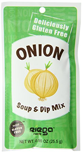 Riega Gluten Free Onion Soup and Dip Mix, 0.90 Ounce (Pack of 8) ()