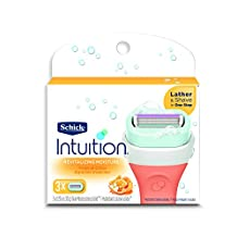 Schick Intuition Revitalizing Moisture Razor Blade Refills for Women with Tropical Citrus Extracts - 3 Count by Schick