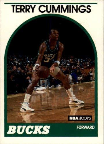 Basketball NBA 1989-90 Hoops #100 Terry Cummings NM-MT SP Bucks
