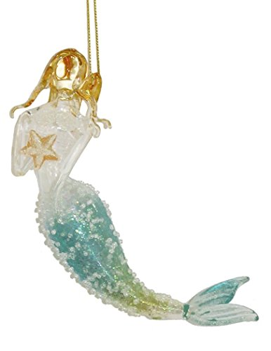 Gallerie II Seafoam Glitter Mermaid Ornament 5.5 Inches