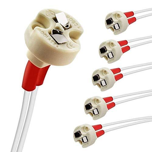 YiLighting - Ceramic Miniature Bi-Pin MR16 Lamp Base Socket Holder Connector Adapter For MR16, GU5.3, G4, MR11,GY6.35 GZ4 Female Base Light Bulbs(20pcs) by YiLighting Supplier
