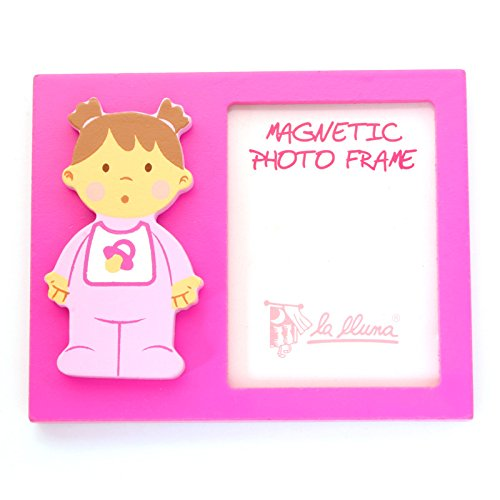 Detalles Infantiles Portafoto magn/ético bebe ni/ña bautizo