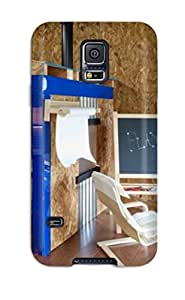 New Style Hana Heinen Hard Case Cover For Galaxy S5- Industrial Style Basement With Kids Playhouse