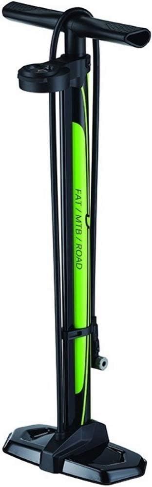 P4B | Bomba de pie para fatbike/Bicicleta de Carreras | con manómetro Dual Giratorio | 2 en 1 función = indicador de Alta presión y Gran Volumen con máx. 160 PSI / 11 Bar | para AV y FV