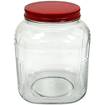 Amazon Com Anchor Hocking 1 Gallon Cracker Jar With Cherry Red
