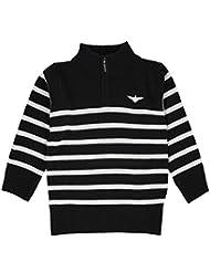 "LR Scoop Little Boys' Toddler ""Ribbed Zip"" Sweater"