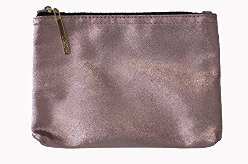 Lanc0me Rose-gold Metallic Faux Leather Cosmetic Make-up Bag