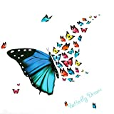 Florencenid Colorful Butterfly Living Room Bedroom Study for Decoration Beautiful Wall Stickers