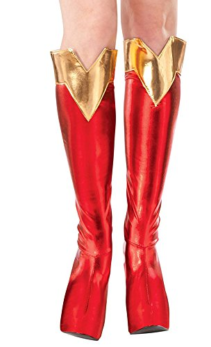 Rubie's Costume Co Women's DC Superheroes Supergirl Boot Tops, Multi, One Size