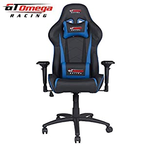 Charming GT Omega PRO Racing Office Chair Black Next Blue Leather