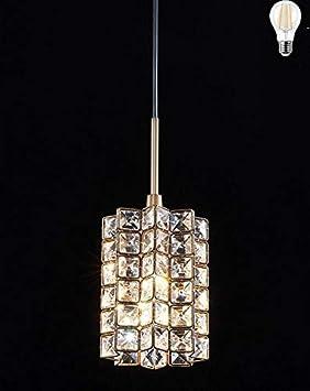 Smart Lighting-Shupregu 1-light pendant lighting, crystal mini pendant light fixtures, oil rubbed bronze pendant lamp,for Bedroom, Kitchen Island