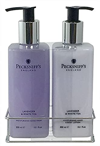 Pecksniff's Lavender and White Tea Hand Wash and Body Lotion Set - Tea Hostess Set