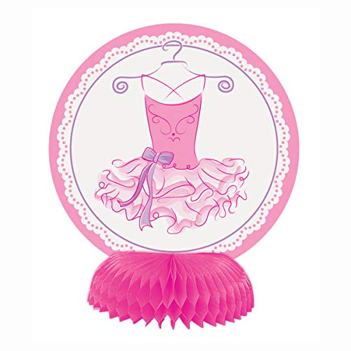 Unique Party- Mini Decoracion: Fiesta de Bailarina, 4 Unidades, Color rosa (49