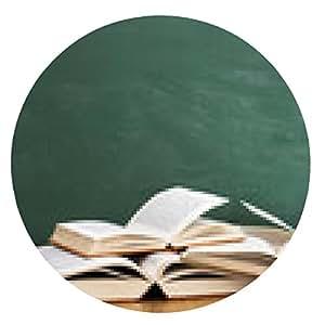 alfombrilla de ratón frente a los libros abiertos de backboord - ronda - 20cm