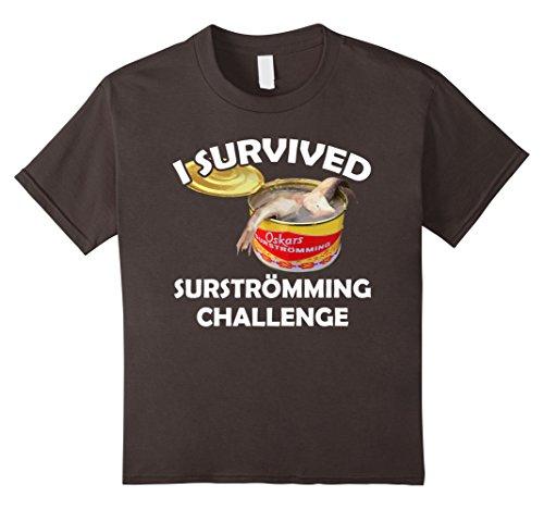 Price comparison product image Kids Surstromming T-Shirt I Survived Surstroemming Challenge 12 Asphalt