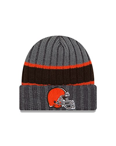 NFL Cleveland Browns Stripe Chiller Knit Beanie, One Size, Graphite