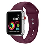YOUKEX Sport Band Compatible Apple Watch,Soft Silicone Strap Replacement Wristbands Compatible Apple Watch Sport Series 3 Series 2 Series 1 Nike+ Sports and Edition