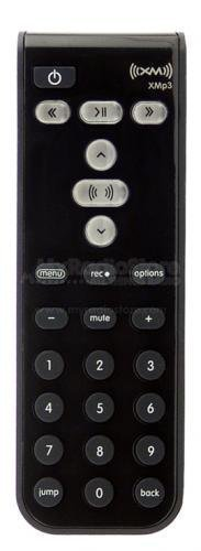 XM Satellite Radio Replacement XMp3 Remote Control -Black- (Xm Mp3 Sirius Radio)