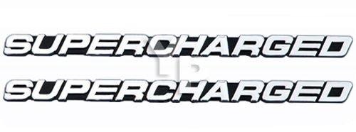 Engine Supercharger - SUPERCHARGED Supercharger Engine Exterior Emblems in Chrome & Black - 7.5