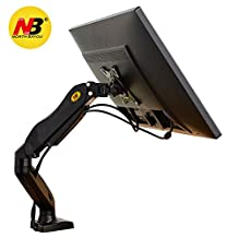 North Bayou Universal Full Motion Articulating Gas Spring Arm Desk Mount F80 for LED, LCD, Flat Panel Screens 17'' - 27 inch min 4.4 lbs up to 14.3 lbs