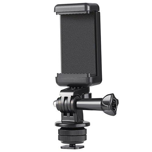 کیت آداپتور Mount Hot Shoe Camera Camera Hot برای GoPro Hero 7 6 5، DJI OSMO Action، iPhone X 8 7 6 Samsung اتصال روی دوربین DSLR یا عکاسی حلقه ای