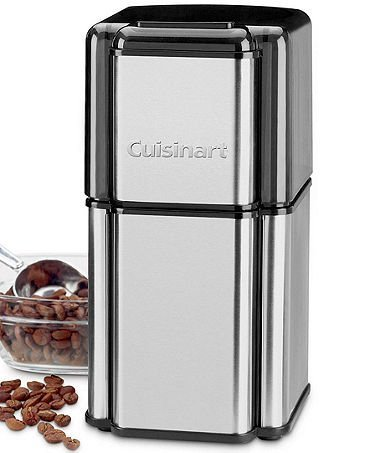 Cuisinart Grind Central Coffee Grinder Enough for 18 Cups with Built-In Safety Interlock, Stainless Steel Blades with Convenient Cord Storage, Includes Dishwasher Safe Bowl and Lid