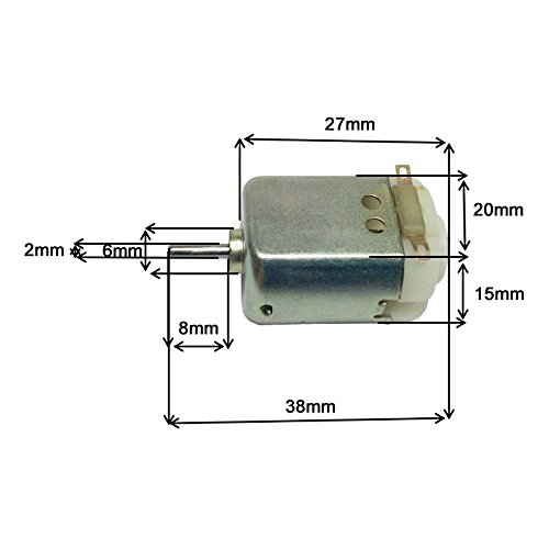 Dc Motor - 1 Pcs 6v 12v14000rpm Standard 130 Motor Green Micro Dc Toy 12v Speed P15 - Timer Electric Lift Under Driver Only Geared Overload Torque Dynamo Wires Double High Rotary Coupli (Best Treadmill Motor For Wind Generator)