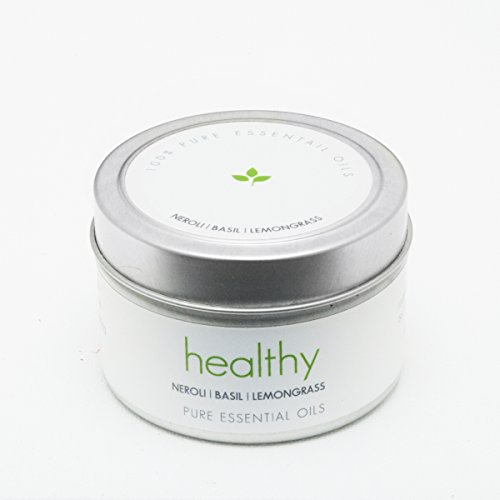 The Pure Candle * Healthy Vegan Candle * Aromatherapy Soy Candle - HEALTHY Soy Candle, Scented Candle with Lavender, Eucalyptus, Sage Pure Essential Oils Candle, Made in USA, VEGAN Certified by The Pure Candle
