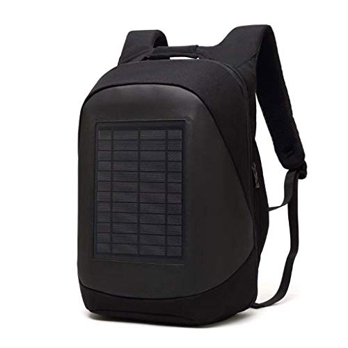 (TYPEIN Solar Power Backpack Waterproof Anti-Theft Fast Charging Camping Hiking Daypack for Smart Cell Phones Laptop)
