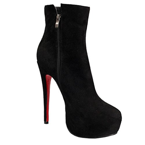 Arbeitsplatzstiefel LEIMINGShoe Schuhe Stiefel Heel Dame 0709FD Herbst Wasserdichte Bankettsaal Künstliches Winterbeuten Stiefeletten Anzeigen High Wildleder ww1P0
