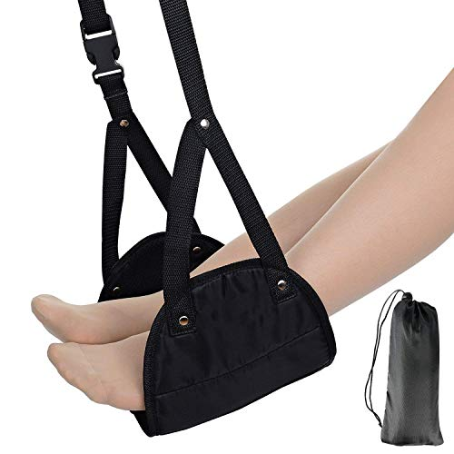 [해외]Jooayou 비행기 용 발판 발 휴대용 비행기 발판 해먹 붓기와 통증 예방 휴식과 편안 함을 제공 / Jooayou Airplane Footrest Footrest Portable Airplane Footrest Hammock Swelling and Pain Prevention Providing Relaxation and Comfort