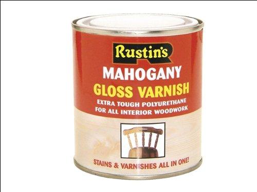 Rustins POGM500 500ml Poly Varnish - Gloss Mahogany