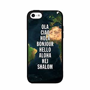 Greeting Map - 2-Piece Dual Layer Phone Case Back Cover iPhone 4 4s
