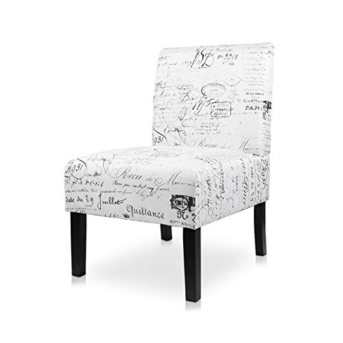 AODAILIHB Armless Accent Chair Modern Fabric Printing Leisure Chair Single Sofa Deco Living Room Bedroom Office Armless Chair (Letter 1Pcs)