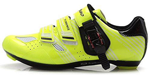 Tiebao Ultralight Road Bicycle Shoes Men Breathable Self-locking Cycling Sneakers Green 42 ()