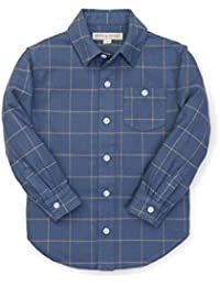 Boys' Brushed Cotton Button Down Top Made with Organic Cotton