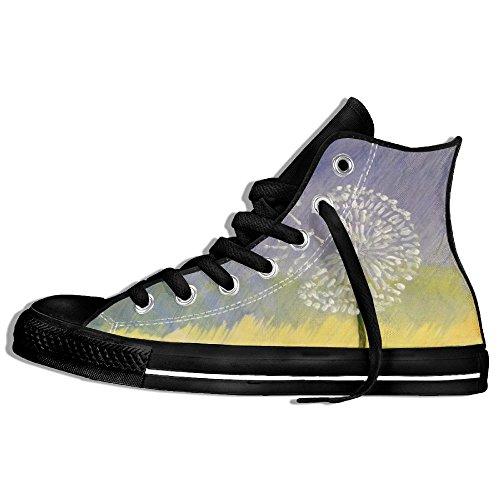 Classiche Sneakers Alte Scarpe Di Tela Anti-skid Dandelion Paint Casual Walking Per Uomo Donna Nero