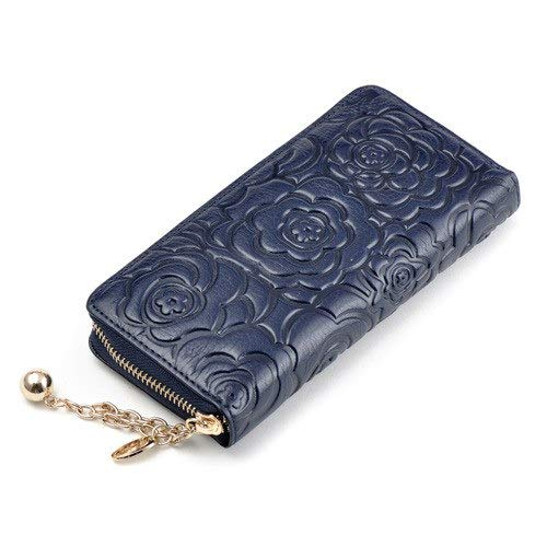 c4759edc75ff Amazon.com: Blue Stones Women Long Wallets Embossed Floral Clutches ...
