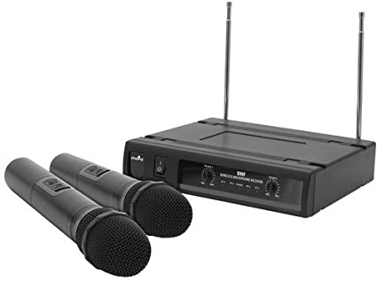 F9 Chord Uh2 Dual Cordless Handheld Microphone Uhf Wireless Dj